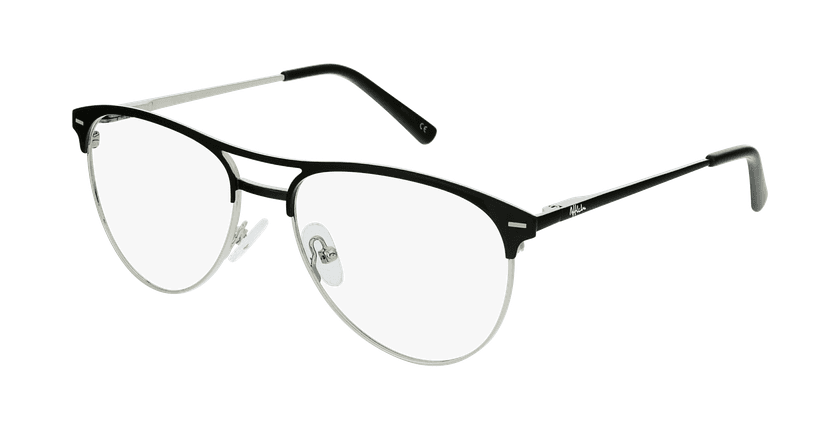 Óculos graduados senhora MILES BK (TCHIN-TCHIN +1€) preto - vue de 3/4