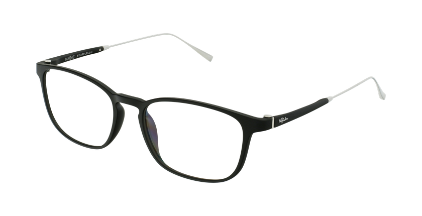 Óculos graduados homem MAGIC 68 BK preto/prateado - vue de 3/4