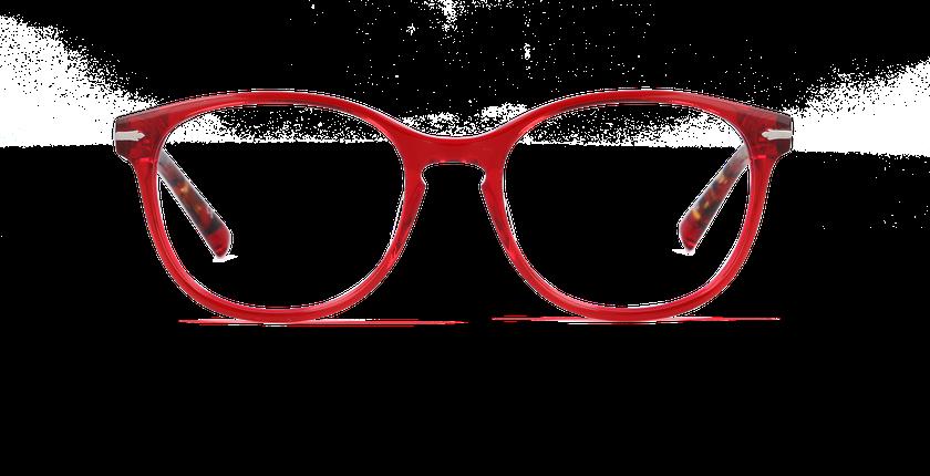 Gafas graduadas mujer WHITEHAVEN rojo - vista de frente