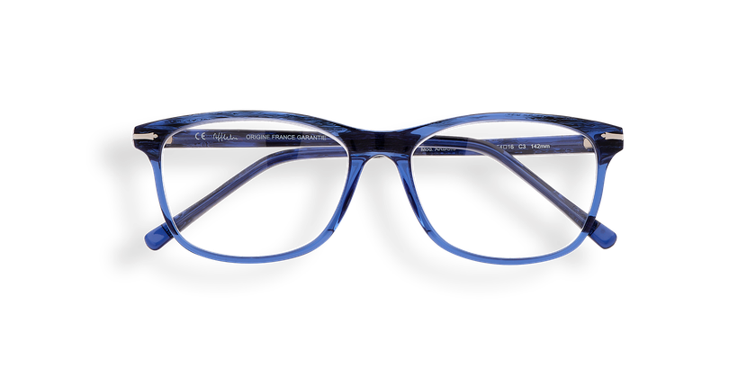 Gafas graduadas hombre ARBOIS azul - vista de frente