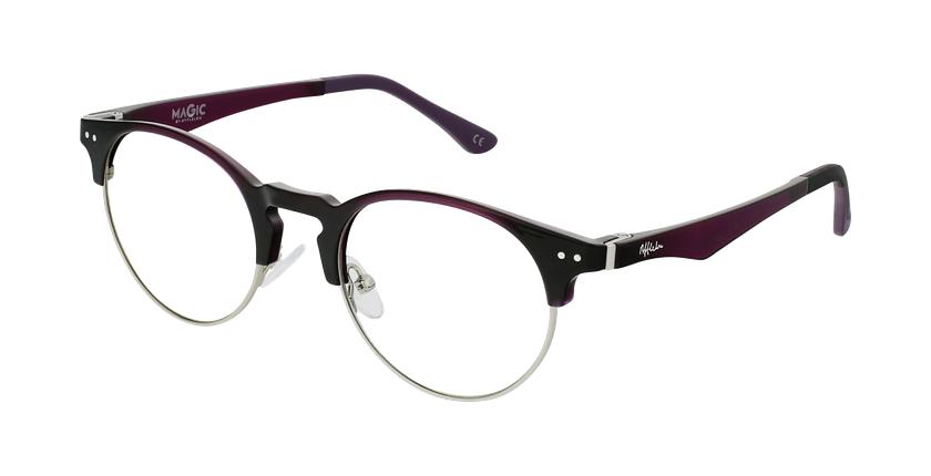 Óculos graduados MAGIC 93 PU ECO FRIENDLY violeta/prateado - vue de 3/4