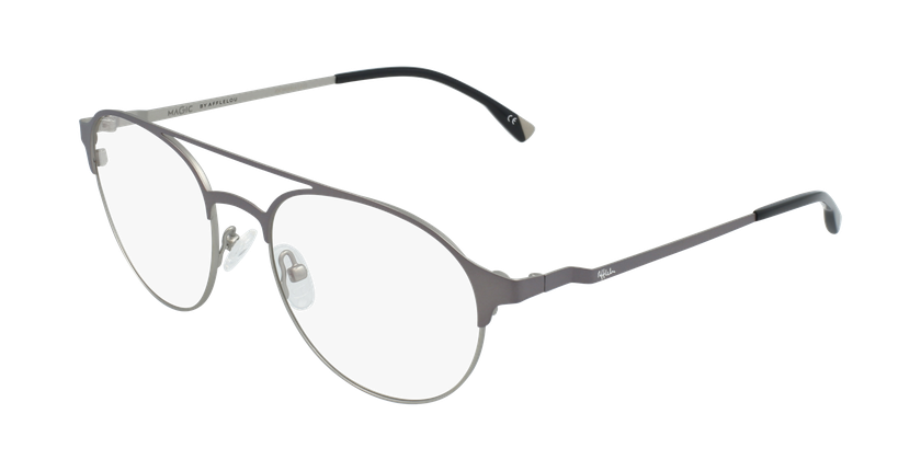 Óculos graduados homem MAGIC 52 BLUEBLOCK - BLOQUEIO LUZ AZUL cinzento/prateado - vue de 3/4