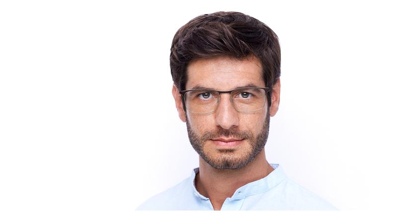 Óculos graduados homem MAGIC 51 BLUEBLOCK - BLOQUEIO LUZ AZUL vermelho/prateado - Vista de frente