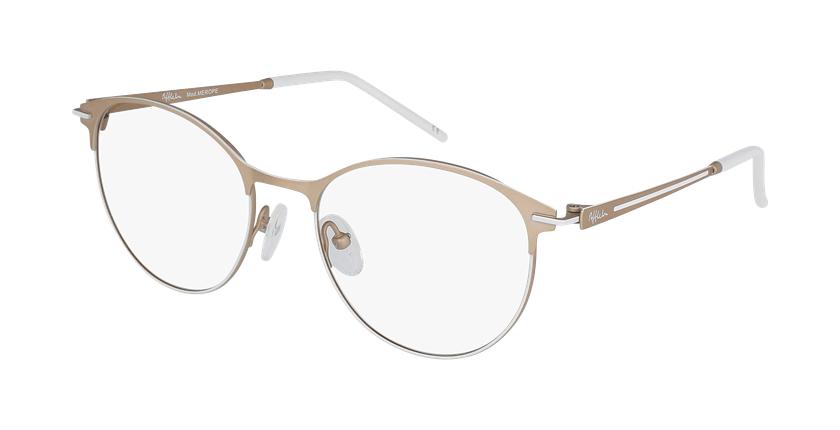 Óculos graduados senhora MEROPE BRWH bege/branco - vue de 3/4
