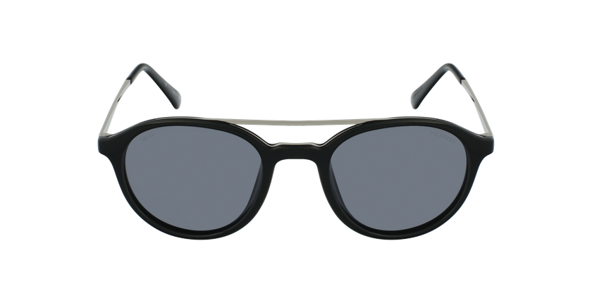 Óculos de sol GLENN BK preto/prateado - Vista de frente