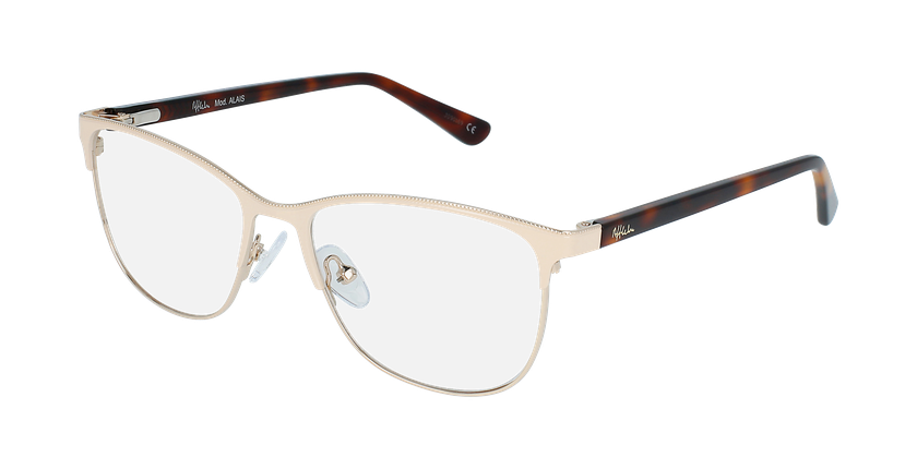 Óculos graduados senhora ALAIS BG (TCHIN-TCHIN +1€) bege - vue de 3/4