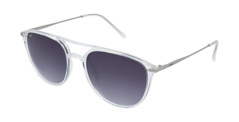 Óculos de sol homem SALCEDO CR branco/prateado - vue de 3/4