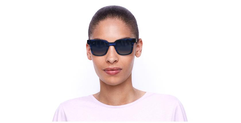Óculos de sol senhora KAREN TOBL tartaruga/azul - Vista de frente