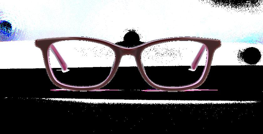 Lunettes de vue femme AUDE rouge - vue de face