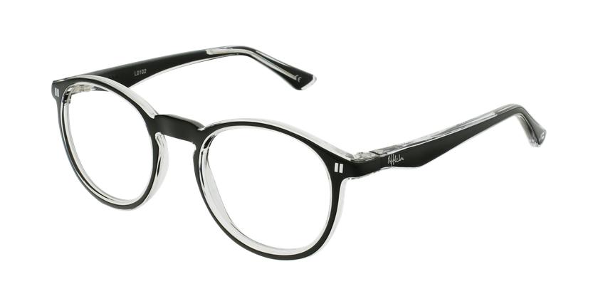 Óculos graduados criança REFORM TEENAGER (J4BK) preto - vue de 3/4