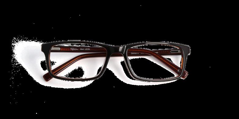 Óculos graduados homem LEON castanho/laranja