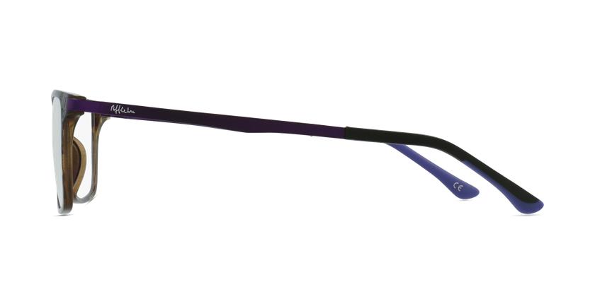 Lunettes de vue femme MAGIC 61 BLUEBLOCK écaille/violet - Vue de côté