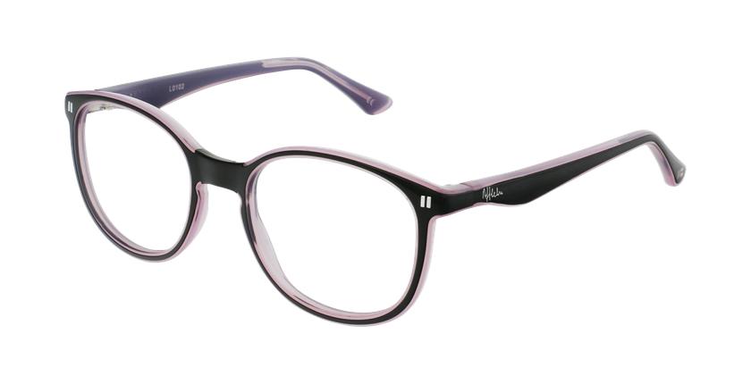 Óculos graduados criança REFORM TEENAGER (J5 BKPK) preto/violeta - vue de 3/4