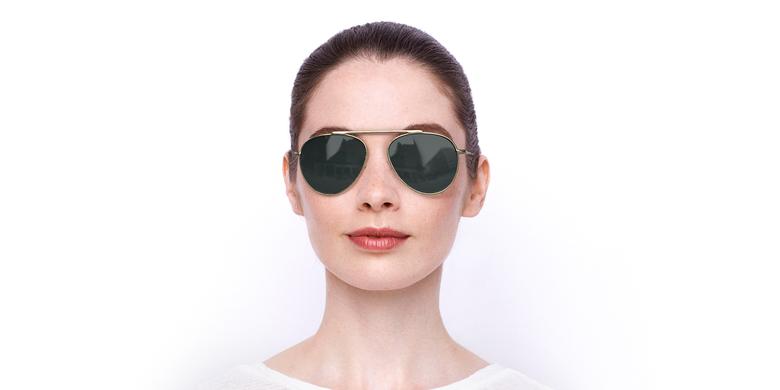 Óculos de sol JULIAN POLARIZED GD dourado