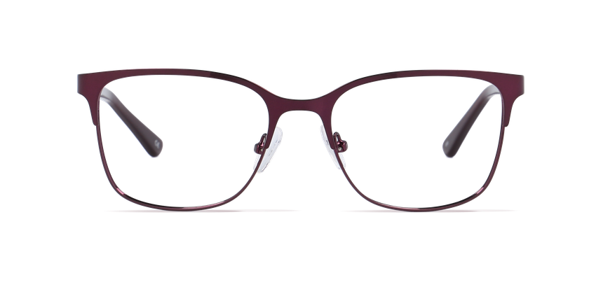 Lunettes de vue femme DORIS rouge - Vue de face