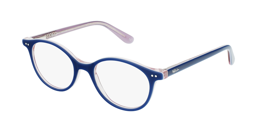Óculos graduados criança CAPUCINE BL (TCHIN-TCHIN +1€) azul/rosa - vue de 3/4