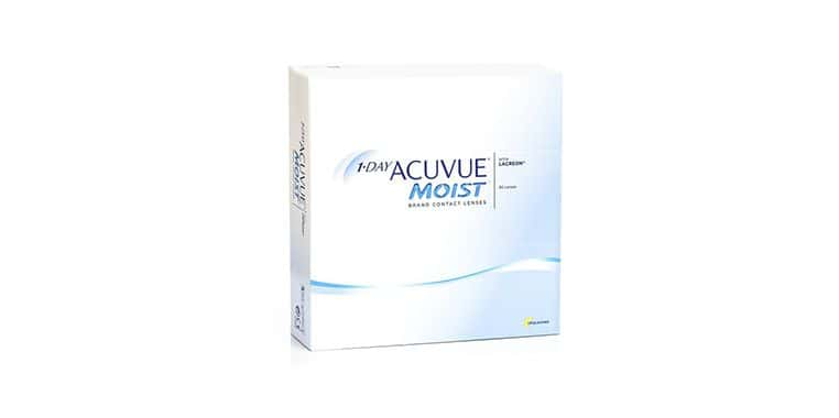 Lentilles de contact 1 Day Acuvue Moist 90L