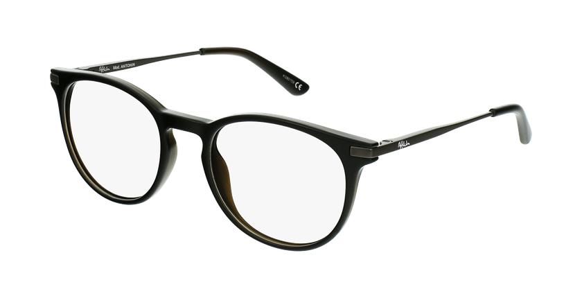 Óculos graduados criança ANTONIN BK (TCHIN-TCHIN +1€) preto/prateado - vue de 3/4