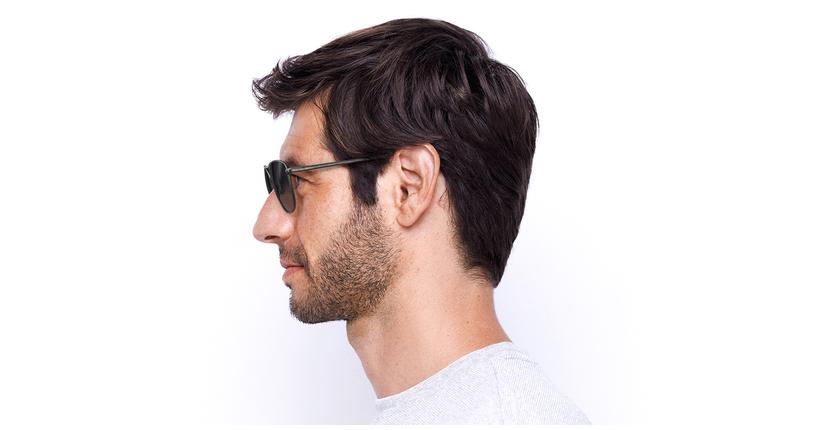 Gafas de sol hombre BELEM gris - Vista de lado