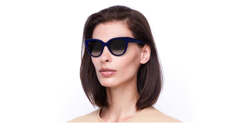 Óculos de sol senhora BRITANY BL azul - vue de 3/4
