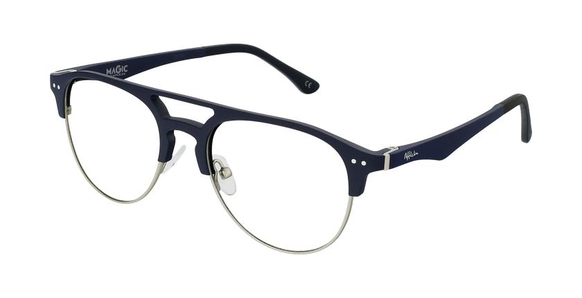 Óculos graduados homem MAGIC 91 BL ECO FRIENDLY azul/prateado - vue de 3/4