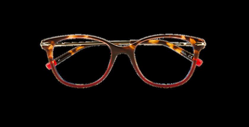 Gafas graduadas mujer WATERFORD rojo - vista de frente