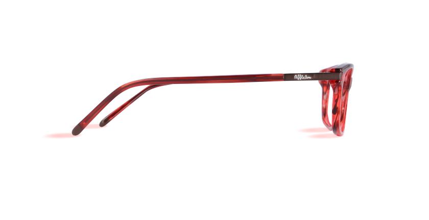 Lunettes de vue femme VICTOIRE rouge - Vue de côté