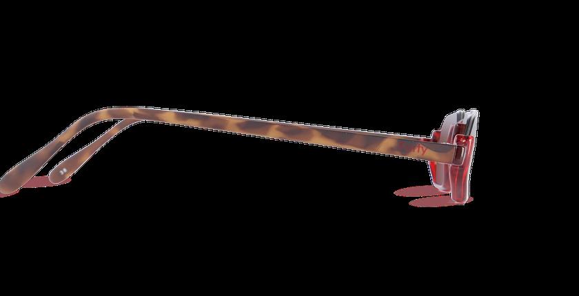 Lunettes de vue FT1S rouge/écaille - Vue de côté