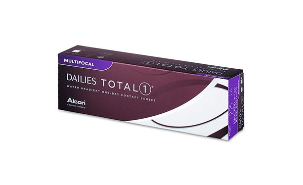 Lentilles de contact Dailies Total 1 Multifocal 30L - Vue de face