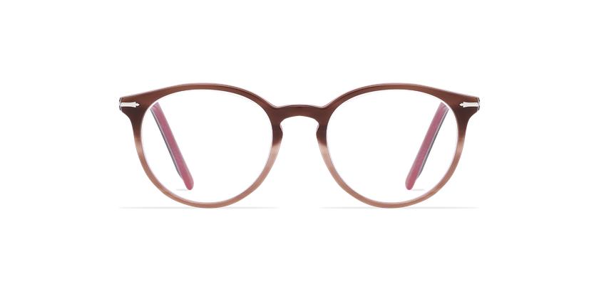 Óculos graduados senhora OYOANNAX castanho/rosa - Vista de frente