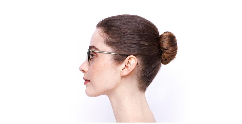 Lunettes de vue femme BEETHOVEN beige/écaille - Vue de côté