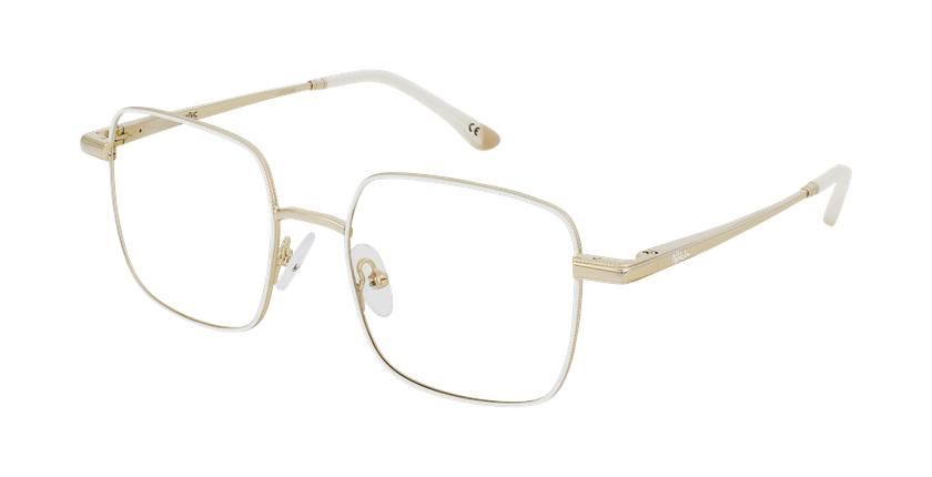 Óculos graduados senhora MAGIC 94 WH branco/dourado - vue de 3/4
