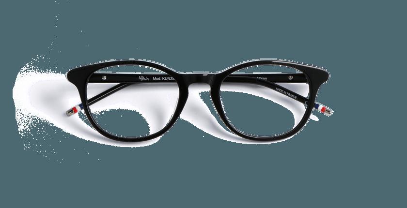 Gafas graduadas mujer KUNZEA negro - vista de frente