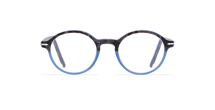 Lunettes de vue homme MORBIER écaille/bleu - Vue de face
