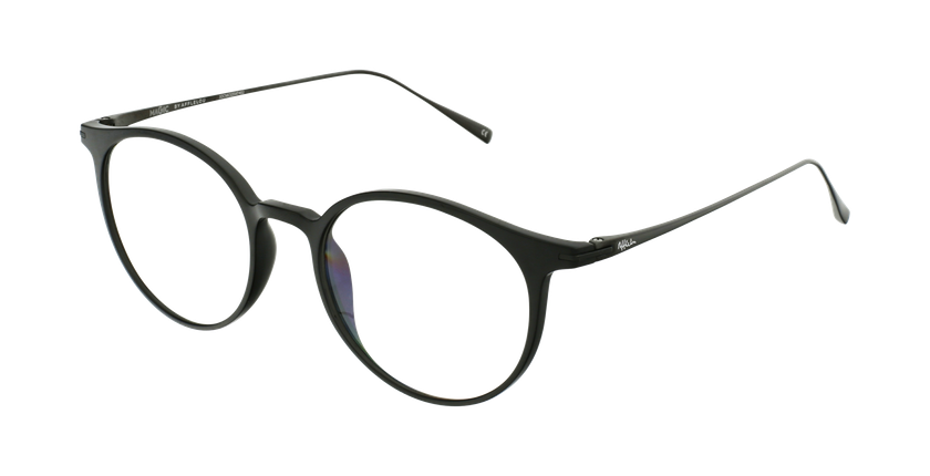 Óculos graduados MAGIC 67 BK preto/prateado - vue de 3/4