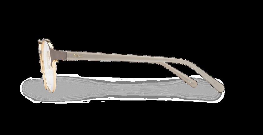 Lunettes de vue femme CAMILLE marron/doré - Vue de côté