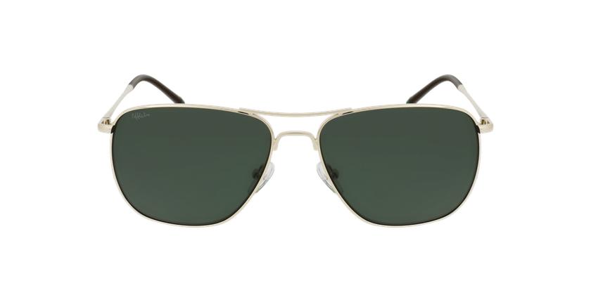 Óculos de sol homem ARON POLARIZED GD dourado - Vista de frente