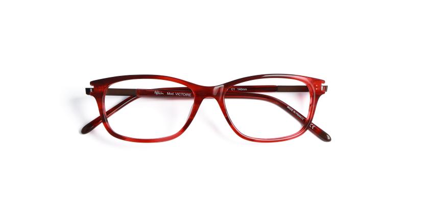 Lunettes de vue femme VICTOIRE rouge - Vue de face