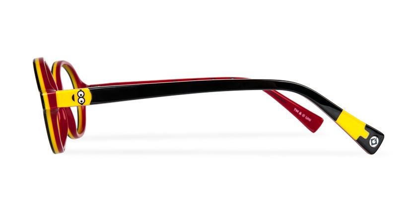Lunettes de vue enfant KEVIN noir/rouge - Vue de côté