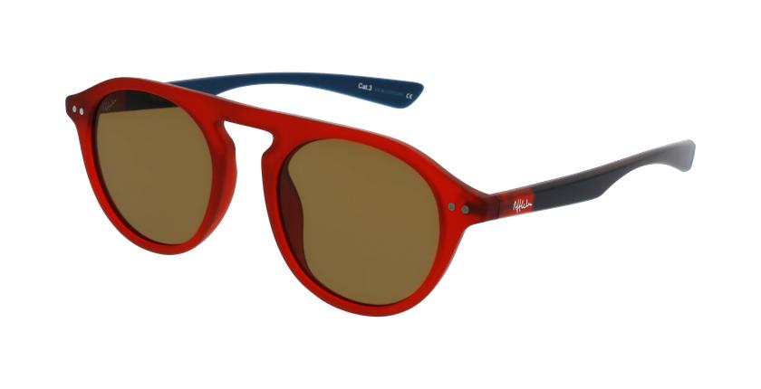 Óculos de sol BORNEO POLARIZED RDBL vermelho/azul - vue de 3/4