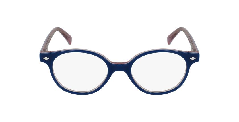 Lunettes de vue enfant ILONA bleu/rose - Vue de face