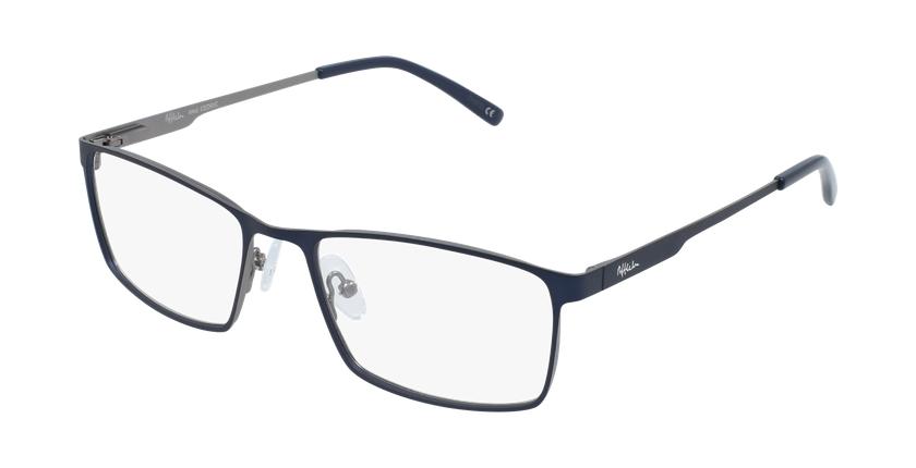 Óculos graduados homem CEDRIC BL (TCHIN-tCHIN +1€) azul/cinzento - vue de 3/4