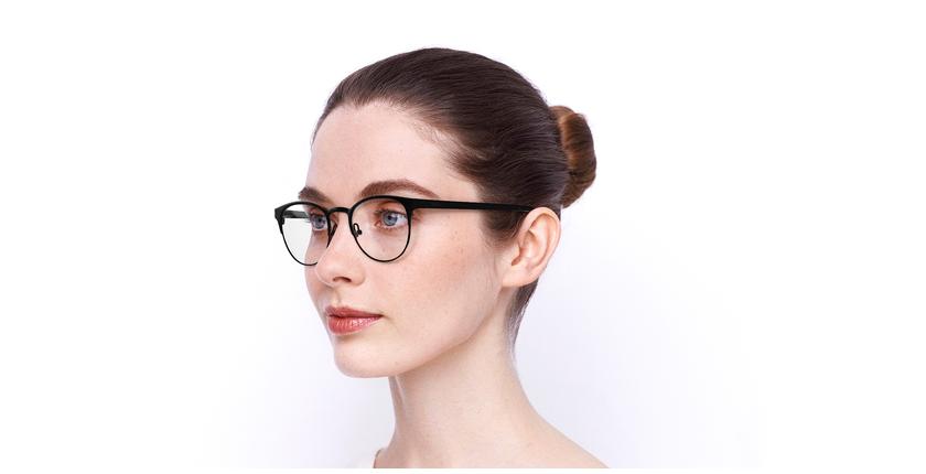 Óculos graduados senhora MAGIC 44 BLUEBLOCK - BLOQUEIO LUZ AZUL preto/dourado - vue de 3/4