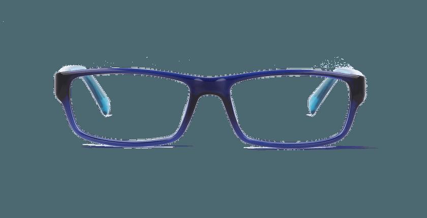 Lunettes de vue homme PAUL bleu - vue de face