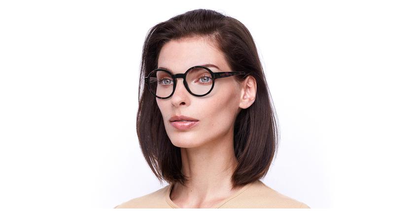 Óculos graduados EMMY PK (TCHIN-TCHIN +1€) tartaruga/rosa - vue de 3/4