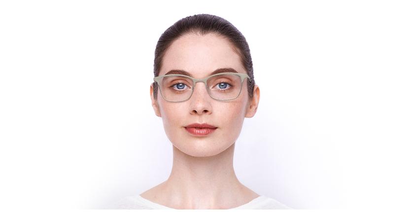 Lunettes de vue femme MAGIC 55 BLUEBLOCK beige/argenté - Vue de face