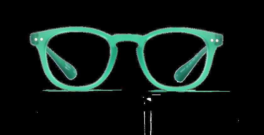 Gafas graduadas BLUE BLOCK UNISEX verde - vista de frente
