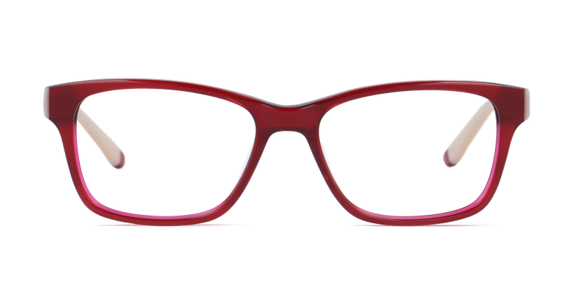 Lunettes de vue femme STONE rouge - vue de face