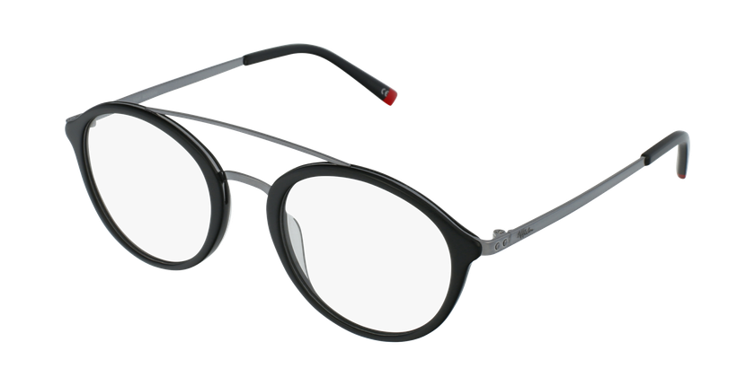 Óculos graduados ROSSINI BK preto - vue de 3/4