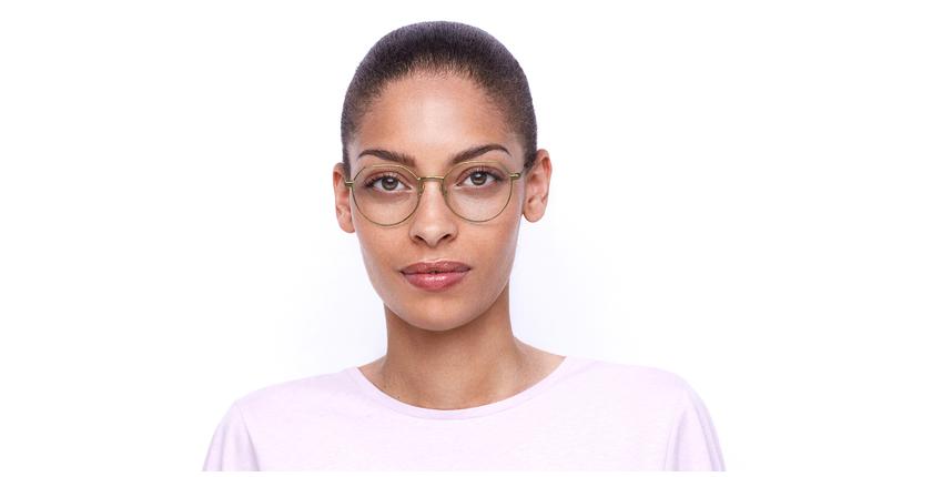 Lunettes de vue femme NOÉLIE doré - Vue de face